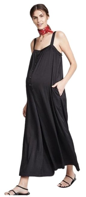 Item - Black Wide Leg Jumpsuit Maternity Dress Size 10 (M, 30)
