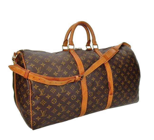 Louis Vuitton Keepall Bandouliere 55 Duffel Brown Monogram Canvas and Leather Weekend/Travel Bag Louis Vuitton Keepall Bandouliere 55 Duffel Brown Monogram Canvas and Leather Weekend/Travel Bag Image 1