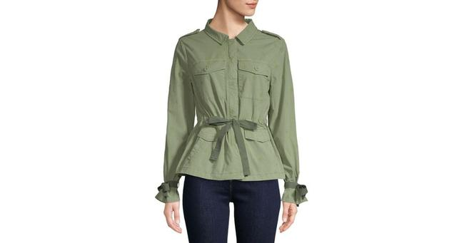 Item - Green Embroidered Jacket Size 0 (XS)