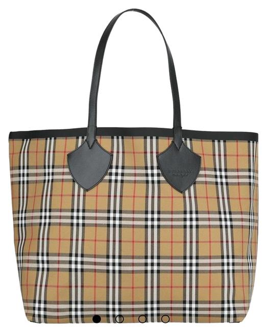 Item - Giant Reversible Shopper Tote Canvas Weekend/Travel Bag
