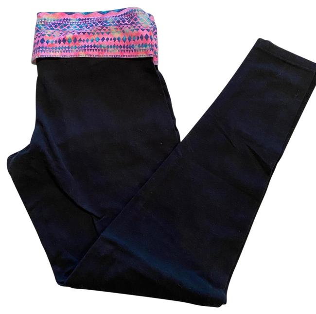 Item - Black Vs Pink Yoga Foldover Leggings Small Pants Size 4 (S, 27)