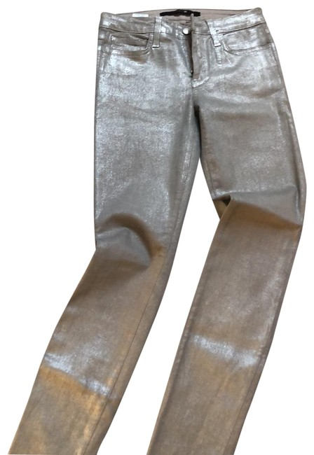 Item - Silvery Gray Coated The Skinny Jeans Size 2 (XS, 26)