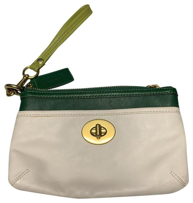 Item - Archive Limited Edition Large Turn Lock White Leather Wristlet