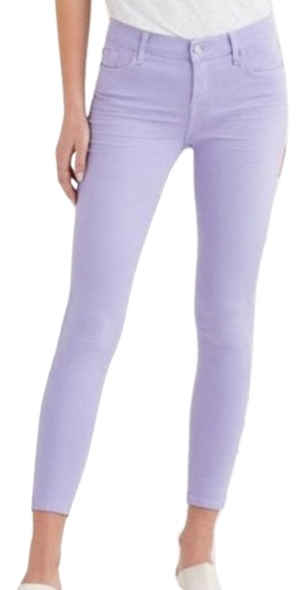 Item - Purple Light Wash Ankle In Soft Lilac Skinny Jeans Size 32 (8, M)