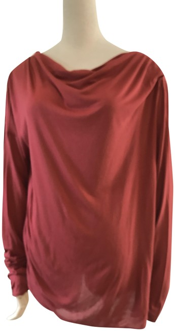 Item - Red Jersey Scoop Neck Sleeve Tunic Size 12 (L)
