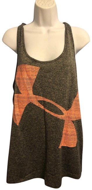 Item - Gray and Coral Sport Tank Activewear Top Size 18 (XL, Plus 0x)