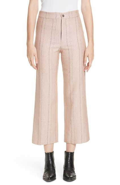 Item - Pink Beige Pin Stripped Culotte Pants Size 8 (M, 29, 30)