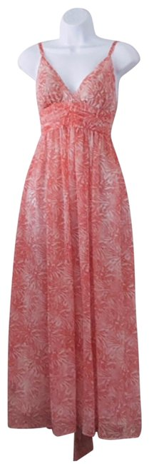 Item - Pink and White Long Casual Maxi Dress Size 4 (S)