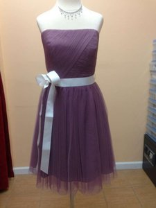 Alfred Angelo Wisteria Soft Net 8602s Formal Bridesmaid/Mob Dress Size 8 (M)