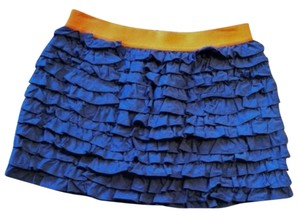 J.Crew Mini Skirt denim with orange elastic band waist