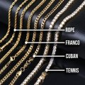 Lexico Fashion Gold/Silver Multi Colored Pave Rainbow Gucci Link Chain Necklace Lexico Fashion Gold/Silver Multi Colored Pave Rainbow Gucci Link Chain Necklace Image 5