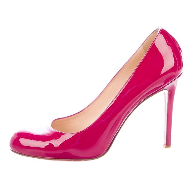 Item - Pink Bubblegum Red Patent Leather Simple 100 Pumps Size EU 35.5 (Approx. US 5.5) Narrow (Aa, N)
