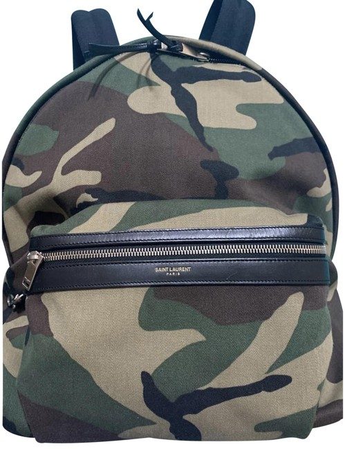 Item - City Camouflage-print In Green Canvas Backpack