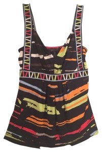 BCBGMAXAZRIA Top Black Multi