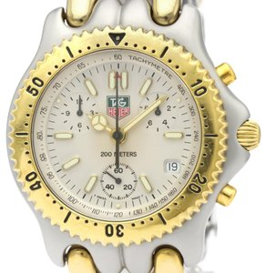 Tag Heuer TAG HEUER Sel Chronograph Gold Plated Steel Mens Watch S35.006