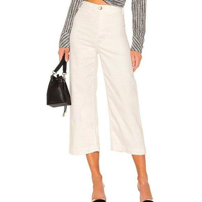 Item - Ivory Light Wash Patti Crop Cotton Pants Trouser/Wide Leg Jeans Size 28 (4, S)