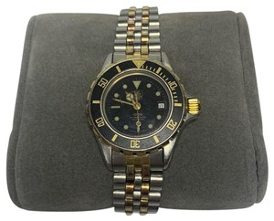 TAG Heuer Ladies Tag Heuer 1000 2-tone 18K Gold plate & SS Professional watch -