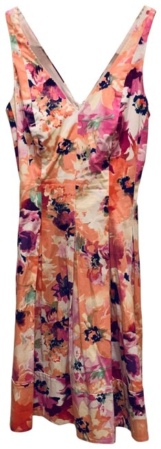 Item - Pink Sleeveless Flare Mid-length Work/Office Dress Size 6 (S)