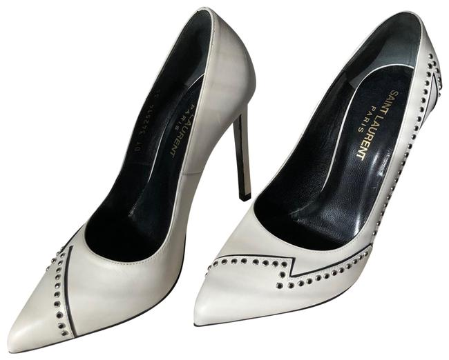 Item - White High-heeled with Stiletto Heel Pumps Size US 5 Narrow (Aa, N)