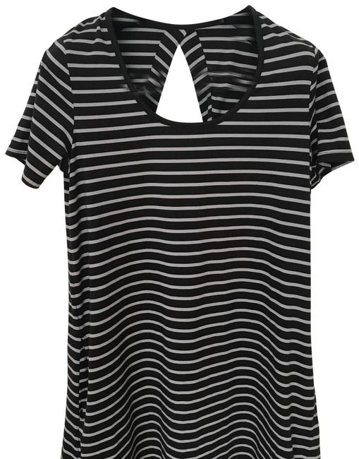 Item - Sleeve Striped Short Casual Dress Size 6 (S)