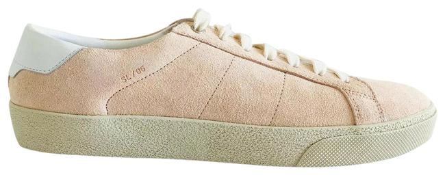Item - Pink Ysl Court Sl/06 Low Top Suede Lace Up Fashion Sneakers Size EU 40 (Approx. US 10) Regular (M, B)
