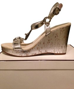Coach Wedge Silver Sandals