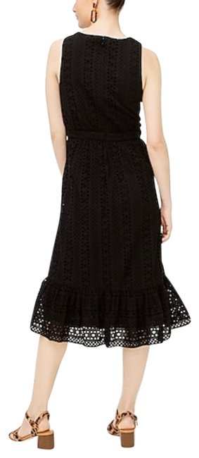 Item - Black Embroidered Eyelet Summer Mid-length Casual Maxi Dress Size 4 (S)