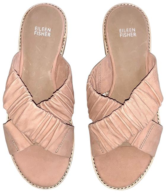 Item - Toffee Cream Cross Flat Tumbled Nubuck Slide Sandals Size US 9 Regular (M, B)