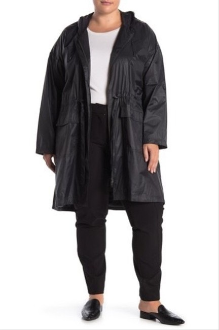 Item - Graphite Hooded Recycled Nylon Rain Jacket Size 20 (Plus 1x)