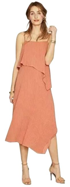 Item - Orange Layered Chiffon Maternity Dress Size 2 (XS, 26)
