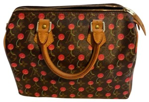 Louis Vuitton Satchel in brown and red