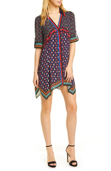 Item - Multi with Tag Connor Handkerchief Hem Shirtdress Short Night Out Dress Size Petite 4 (S)