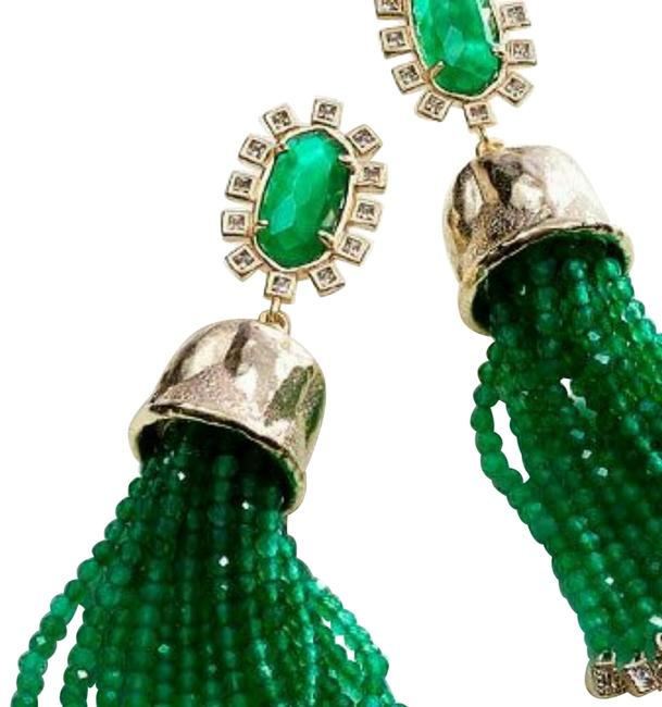 Item - Green and Gold Decker Earrings