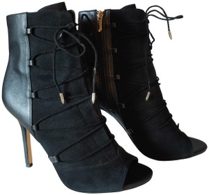 Sam Edelman Leather Suede Black Boots