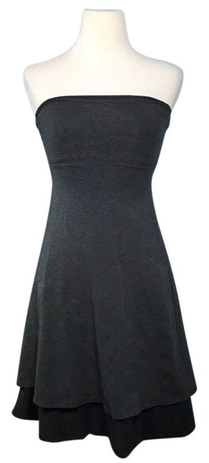Lululemon Black/Grey Renew Dirt Short Casual Dress Size 4 (S) Lululemon Black/Grey Renew Dirt Short Casual Dress Size 4 (S) Image 1
