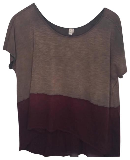 Item - Brown We The Color Block Tee Shirt Size 6 (S)