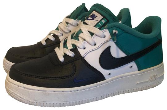 Nike Black White Royal Blue Teal Air Force 1 Lv8 Gs Sneakers