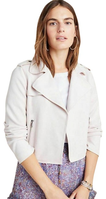 Anthropologie Pink Expressway Sueded Moto Jacket Size 12 (L) Anthropologie Pink Expressway Sueded Moto Jacket Size 12 (L) Image 1