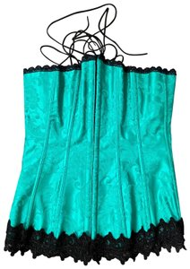 Frederick's of Hollywood Corset Top Green