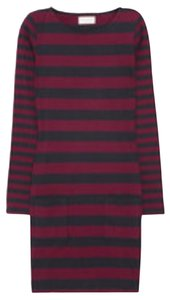 Chinti and Parker short dress Navy Blue and Burgundy Cotton Work on Tradesy