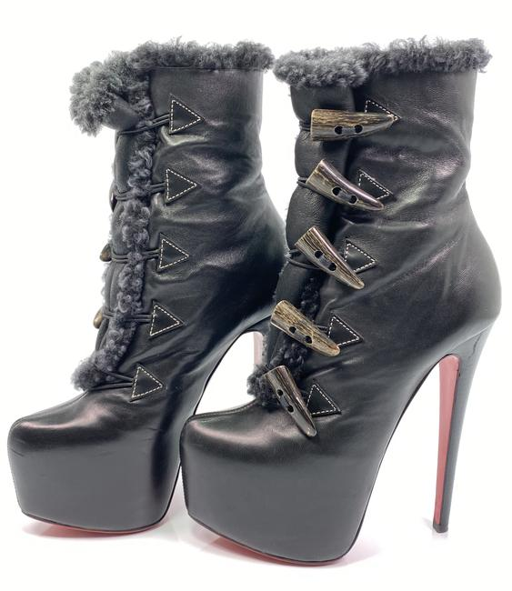 Item - Black Oulanbator 160 Nappa Leather Ankle Boots/Booties Size EU 35 (Approx. US 5) Regular (M, B)