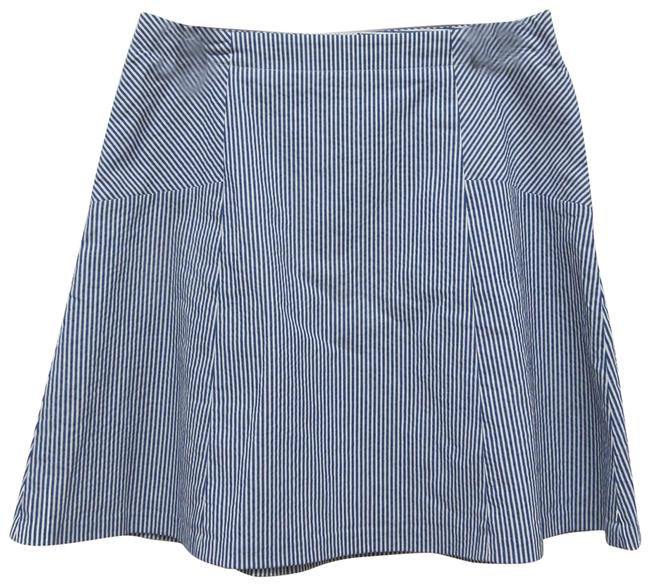 Item - Blue White A-line Striped Skirt Size 8 (M, 29, 30)
