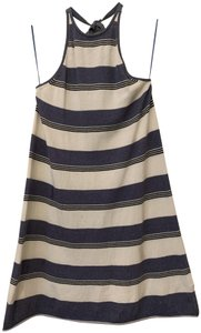 The Fifth Label short dress Blue, White Black Striped Halter Sundress on Tradesy