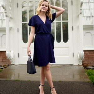 Draper James short dress Navy Blue on Tradesy