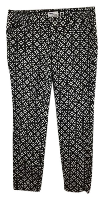 Item - Black & White Print Pockests Zipper Pants Size 4 Romper/Jumpsuit