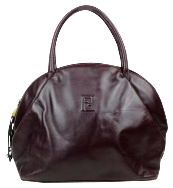 Item - W Early Top Handle 'pasta' Or 'noodle' Burgundy/Gold Pasta Tassel Leather Satchel
