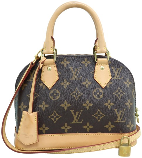 Louis Vuitton Alma Bb Brown Borwn Monogram Canvas Satchel Tradesy