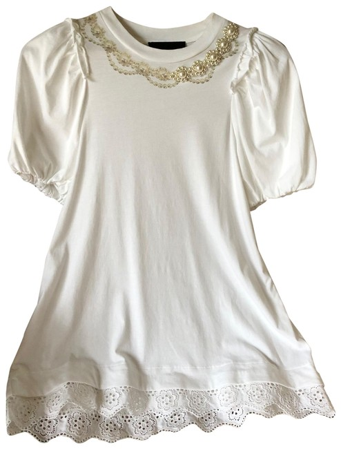 Item - Faux Pearl T-shirt Tee Shirt Size 4 (S)