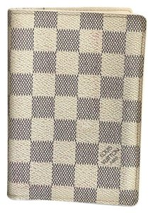 Louis Vuitton Louis Vuitton Damier Azur Passport Cover/Holder Bifold Wallet CA0170