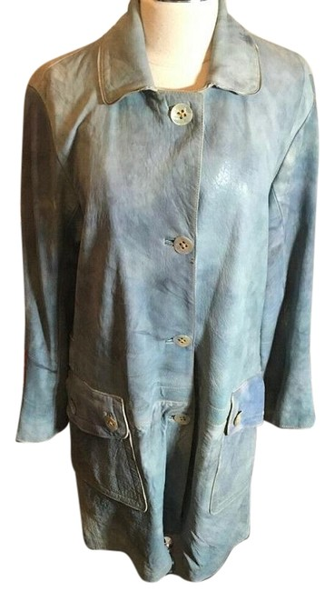 Item - Blue Teal Hand Painted Jacket Size 6 (S)